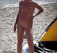 Reality spy cam shots of nudist family