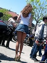Upskirt panty pictures of hundreds of hot unsuspicious girls